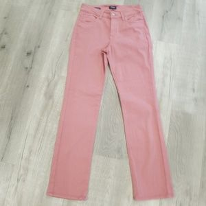 NYDJ mauve pink Marilyn straight SOFT jeans 8